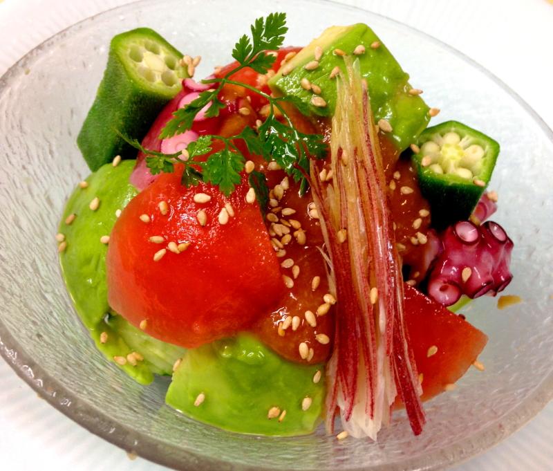 魚箱:トマト酢味噌和え